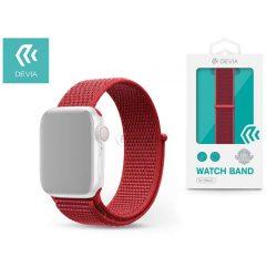Apple Watch lyukacsos sport szíj - Devia Deluxe Series Sport3 Band - 38/40 mm - red