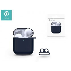 Devia szilikon tok AirPods fülhallgatóhoz - Devia AirPods v.2 Naked Silicone Case Suit for AirPods (whit loophole) - blue