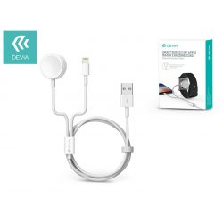 Devia mágneses töltőkábel Apple Watch órához + lightning kábel - Devia Smart Series 2in1 Apple Watch Charging Cable - white