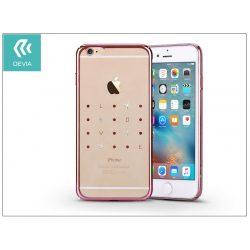 Apple iPhone 6 Plus/6S Plus hátlap kristály díszitéssel - Devia Crystal Love - rose pink