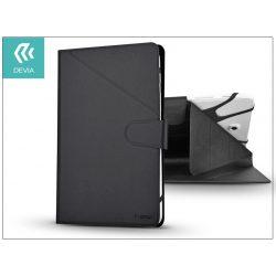 """Devia univerzális tok 8"""", méretű tablet készülékekhez, on/off funkcióval - Devia Flexy Universal Leather - black"""